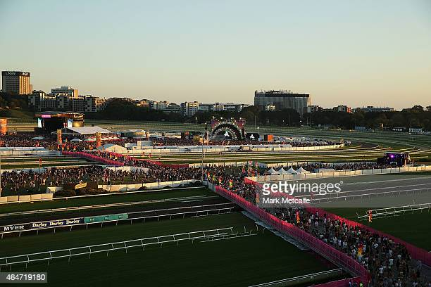 A general view of the Future Music Festival at Royal Randwick Racecourse on February 28 2015 in Sydney Australia