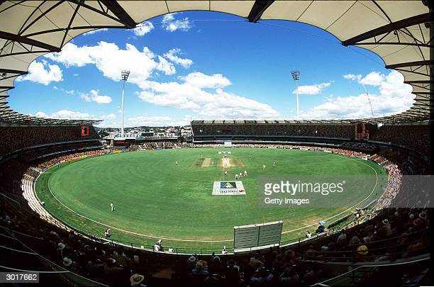 A general view of the Gabba cricket ground during the First Test Match between Australia and Pakistan at the Gabba November 9 1999 in Brisbane...