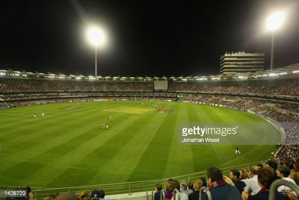 General view of the Gabba during the AFL Preliminary Final between the Brisbane Lions and Port Adelaide Power played at the Gabba in Brisbane...