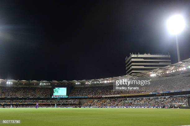 A general view of the Gabba is seen during the Big Bash League match between the Brisbane Heat and Hobart Hurricanes at The Gabba on December 29 2015...