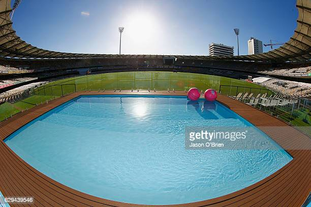 General view of the Gabba Pool Deck during an Australian nets session at The Gabba on December 13 2016 in Brisbane Australia