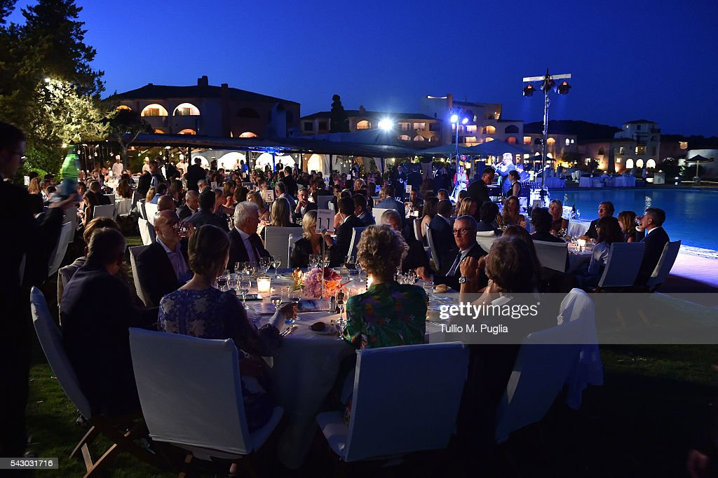 A general view of the Gala Dinner during The Costa Smeralda Invitational golf tournament at Pevero Golf Club - Costa Smeralda on June 25, 2016 in Olbia, Italy.