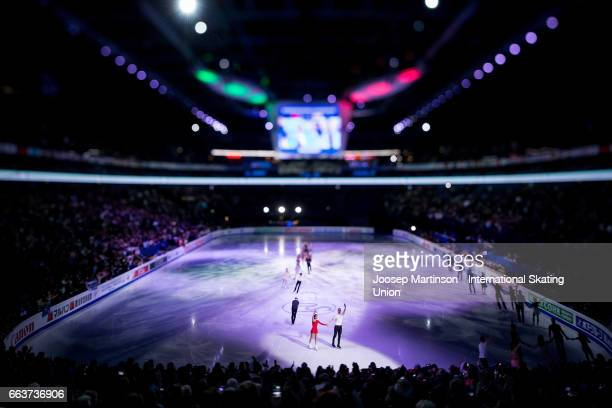 A general view of the gala exhibition during day five of the World Figure Skating Championships at Hartwall Arena on April 2 2017 in Helsinki Finland