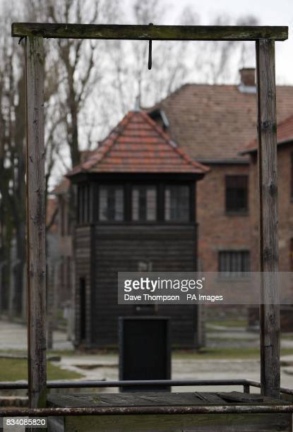 A general view of the gallows at Auschwitz I camp These gallows were used to hang prisoners and later used to hang SSObersturmbannfuhrer Rudolf Hoss