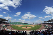 A general view of the game between the Boston Red Sox and the Baltimore Orioles on March 6 2012 at JetBlue Park in Fort Myers Florida