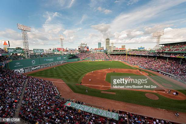 A general view of the game between the Boston Red Sox and the Oakland Athletics at Fenway Park on June 6 2015 in Boston Massachusetts