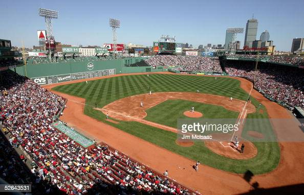 A general view of the game between the Boston Red Sox and the Tampa Bay Devil Rays on April 17 2005 at Fenway Park in Boston Massachusetts The Red...