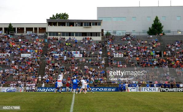 General view of the game between the Charlotte Hounds and the Denver Outlaws at American Legion Memorial Stadium on June 7 2014 in Charlotte North...