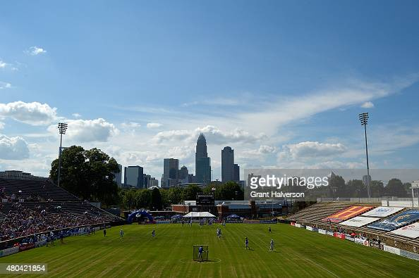 General view of the game between the Charlotte Hounds and the Florida Launch at American Legion Memorial Stadium on July 11 2015 in Charlotte North...