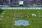 General view of the game between the Duke Blue Devils and the North Carolina Tar Heels at Kenan Stadium on November 30 2013 in Chapel Hill North...