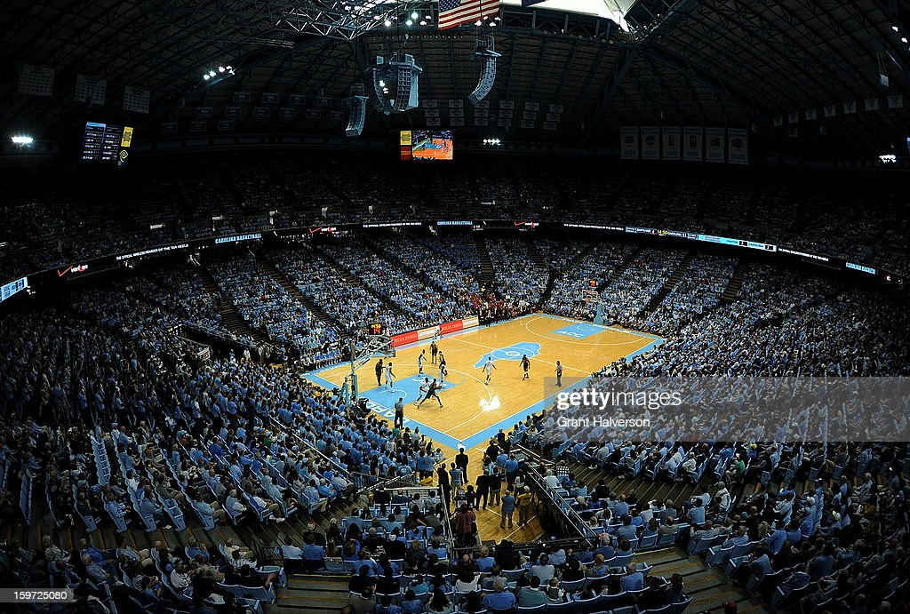 General view of the game between the Maryland Terrapins and the North Carolina Tar Heels at the Dean Smith Center on January 19, 2013 in Chapel Hill, North Carolina. North Carolina won 62-52.