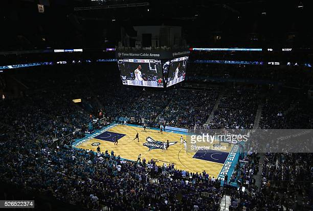 A general view of the game between the Miami Heat and Charlotte Hornets during game six of the Eastern Conference Quarterfinals of the 2016 NBA...