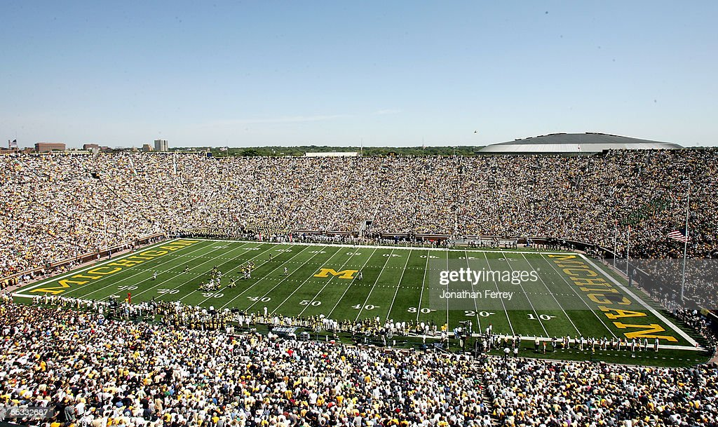 A general view of the game between the Michigan Wolverines and the Notre Dame Fighting Irish on September 10 2005 at Michigan Stadium in Ann Arbor...