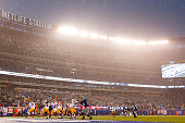 A general view of the game between the New York Giants and the Washington Redskins at MetLife Stadium on December 29 2013 in East Rutherford New...