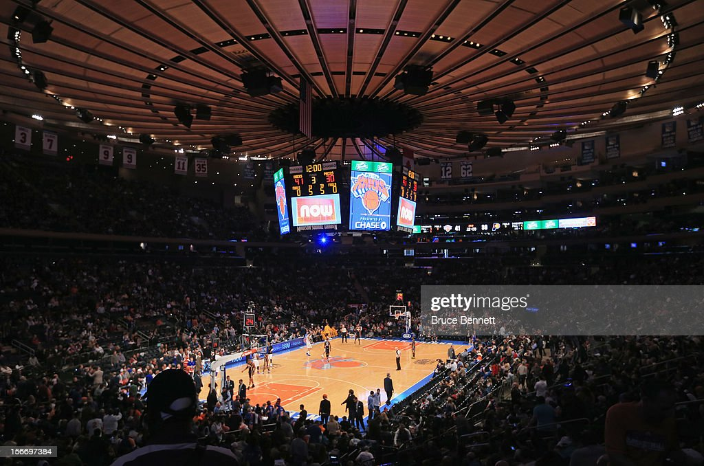 A general view of the game between the New York Knicks and the Indiana Pacers at Madison Square Garden on November 18, 2012 in New York City.