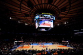 A general view of the game between the New York Knicks and the San Antonio Spurs during the third quarter at Madison Square Garden on November 10...