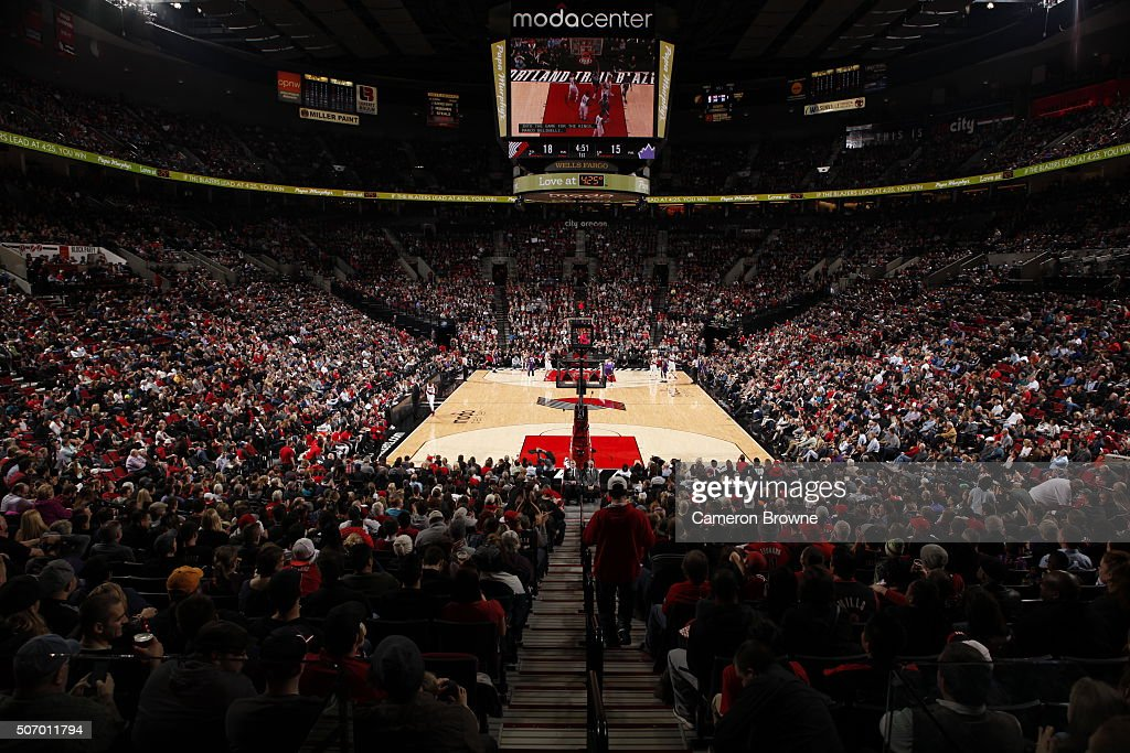 A general view of the game between the Portland Trail Blazers and Sacramento Kings on January 26 2016 at the Moda Center in Portland Oregon NOTE TO...