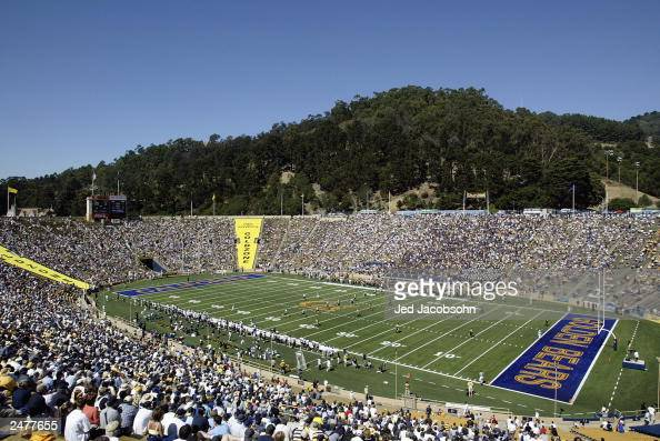 General view of the game between the University of California at Berkley Golden Bears and the University of Southern Mississippi Golden Eagles at...