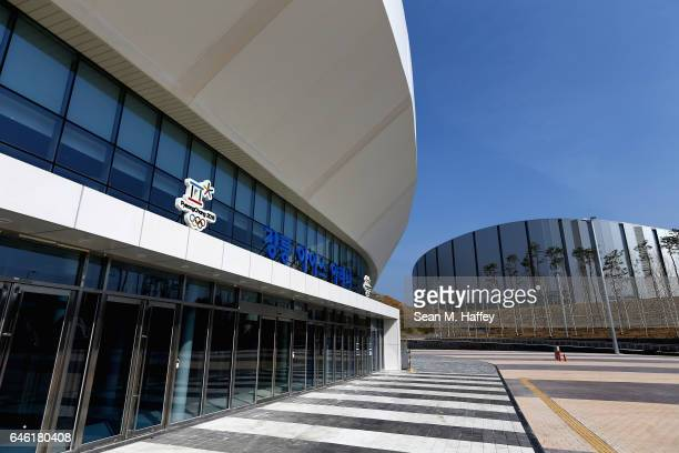A general view of the Gangneung Ice Arena and Gangneung Oval on February 28 2017 in Gangneun South Korea
