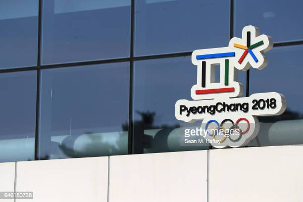 A general view of the Gangneung Ice Arena on February 28 2017 in Gangneun South Korea