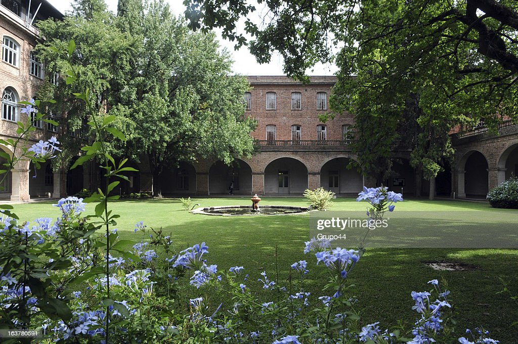 General view of the garden of Colegio Máximo San José where Pope Francis studied to be a priest in his early years on March 15 2013 in San Miguel...