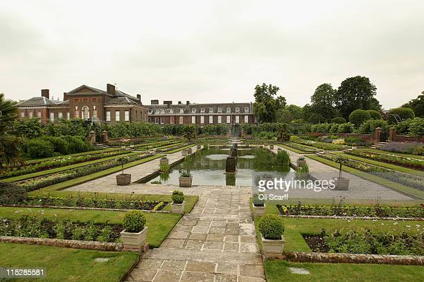 A general view of the gardens of Kensington Palace in Hyde Park on June 6 2011 in London England The Duke and Duchess of Cambridge are to move their...
