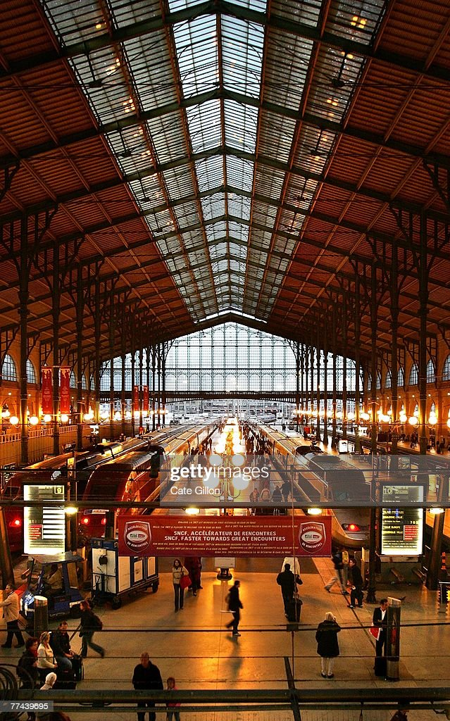 A general view of the Gare Du Nord on October 21 2007 in Paris France