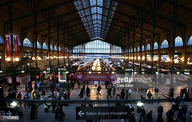 A general view of the Gare Du Nord Paris on October 21 2007 in Paris France