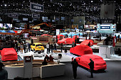 A general view of the Geneva International Motor Show on March 2 2015 in Geneva Switzerland The 85th International Motor Show held from the 5th to...
