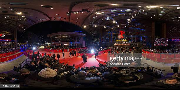 A general view of the 'Genius' premiere during the 66th Berlinale International Film Festival Berlin at Berlinale Palace on February 16 2016 in...