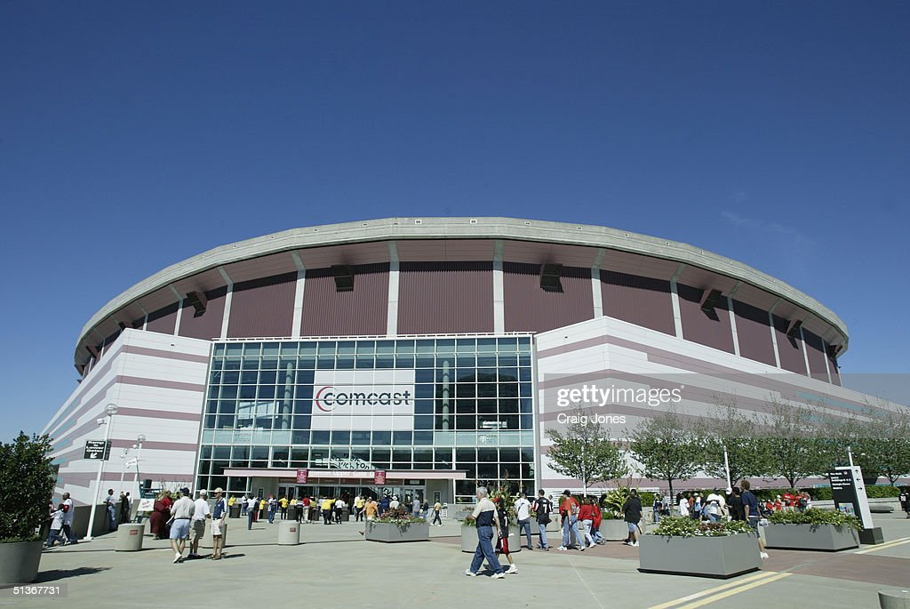 General view of the Georgia Dome before the game between the St Louis Rams and the Atlanta Falcons on September 19 2004 in Atlanta Georgia The...