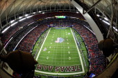 A general view of the Georgia Dome during the ChickFilA Bowl between the Texas AM Aggies and the Duke Blue Devils on December 31 2013 in Atlanta...
