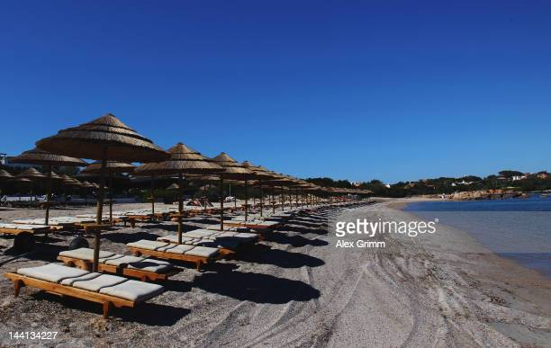 General view of the Germany team hotel 'Romazzino' during their training camp on May 10 2012 in Porto Cervo Italy