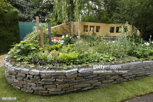 General view of the Get Well Soon Garden sponsored by the National Botanical Garden of Wales at the RHS Chelsea Flower Show London