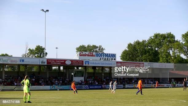 General view of the Getraenke Hoffmann Stadium during the U15 girl's international friendly match between Germany and Netherlands at Getraenke...