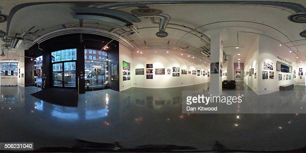 A general view of the Getty Images Gallery at 46 Eastcastle St on January 22 2016 in London England