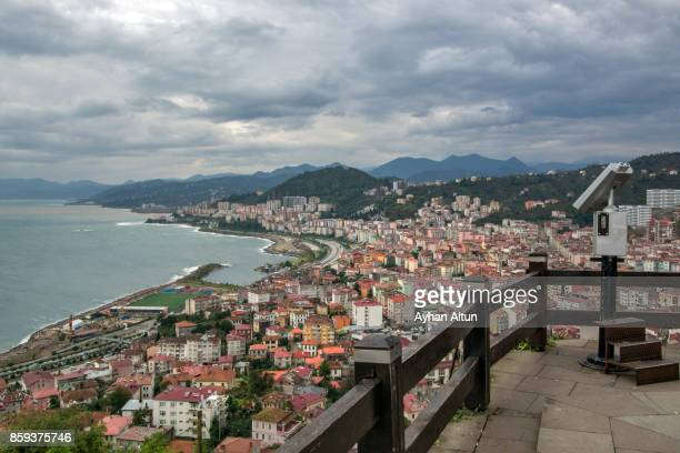 General view of The Giresun city centre from the old castle in The Black Sea Coast of Turkey