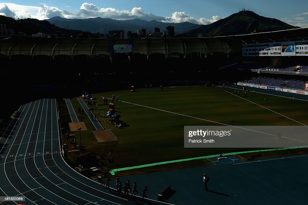 A general view of the Girls 800 Meters Final on day five of the IAAF World Youth Championships Cali 2015 on July 19 2015 at the Pascual Guerrero...
