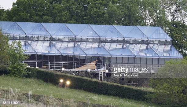 General View of the glass marquee which will be used for the wedding reception of Pippa Middleton and James Matthews on May 18 2017 in Bucklebury...