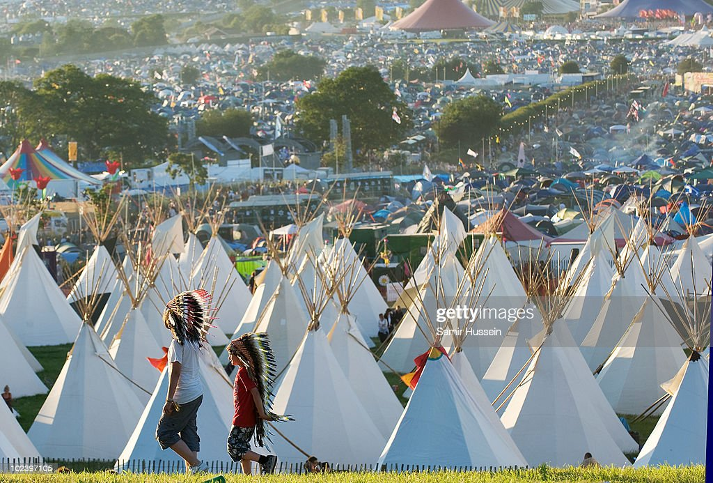 A general view of the Glastonbury Festival on June 24, 2010 in Glastonbury, England. Glastonbury has become Europe's largest music festival and is celebrating its 40th anniversary.