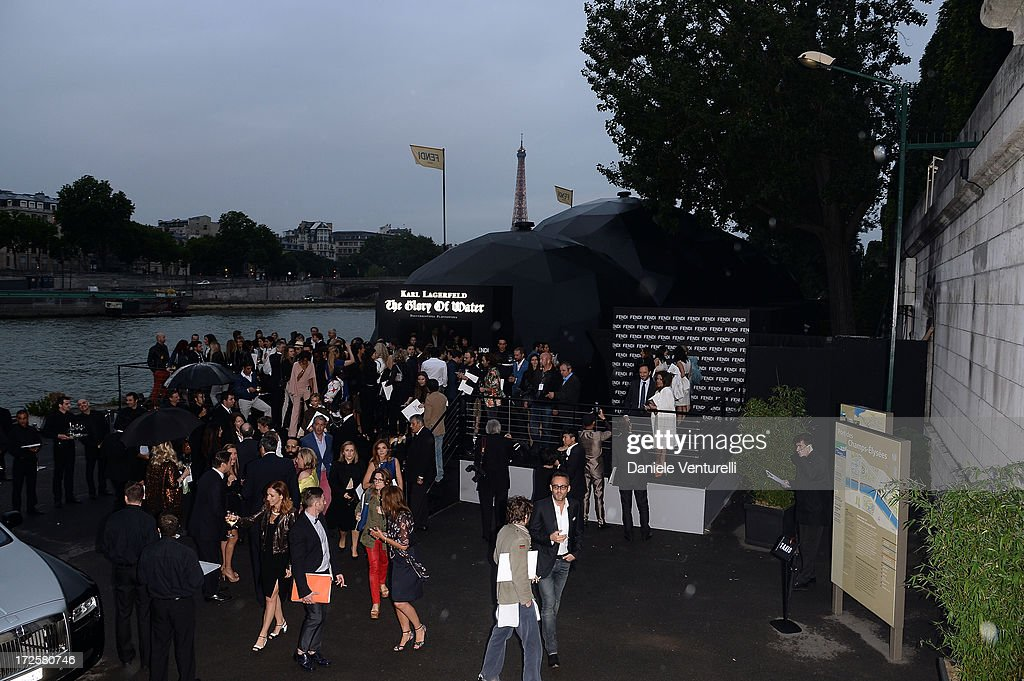 General view of 'The Glory Of Water' Karl Lagerfeld's Exhibition Preview on July 3, 2013 in Paris, France.