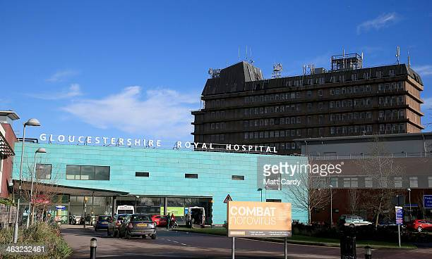 A general view of the Gloucestershire Royal Hospital on January 17 2014 in Gloucester England The Queens granddaughter and Olympic silvermedalist...