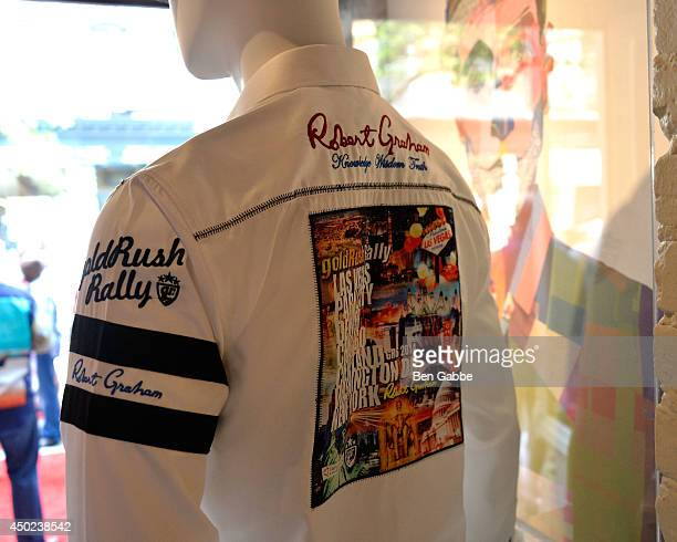 A general view of the goldRush Rally shirts by Robert Graham at the Robert Graham and California Pizza Kitchen Celebrate Grand Finale of goldRush...