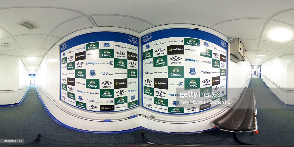 A general view of the Goodison Park tunnel during the Barclays Premier League match between Everton and West Bromwich Albion at Goodison Park on February 13, 2016 in Liverpool, England.