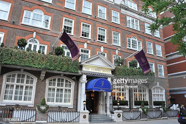 A general view of the Goring Hotel ahead of the Royal Wedding on April 26 2011 in London England Catherine Middleton and her family will stay at the...