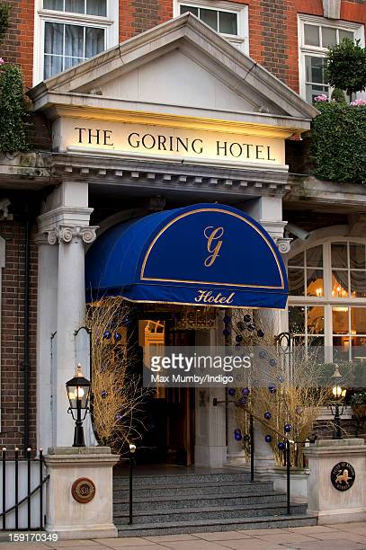 A general view of the Goring Hotel where Queen Elizabeth II hosted a Christmas lunch for her close members of staff on December 03 2012 in London...