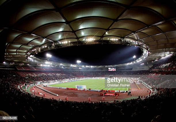 A general view of the Gottlieb Daimler Stadium is seen during the Bundesliga match between VFB Stuttgart and Hanover 96 at the Gottlieb Daimler...