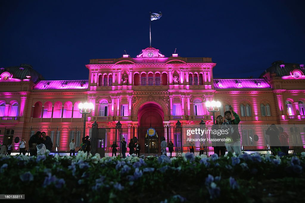 General view of the Government House 'Casa Rosada' on September 8 2013 in Buenos Aires Argentina