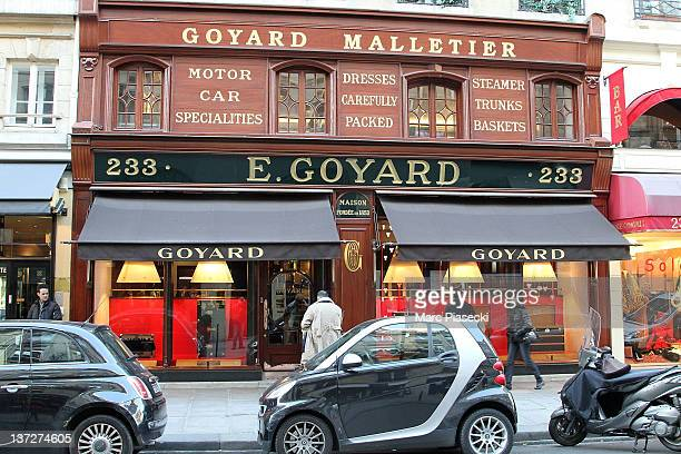 A general view of the 'GOYARD' luggage store on January 17 2012 in Paris France