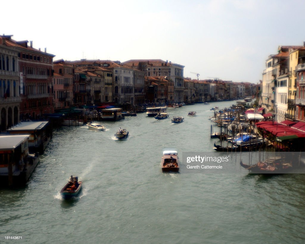 A general view of the Grand Canal in Venice during the 69th Venice Film Festival on September 7, 2012 in Venice, Italy.